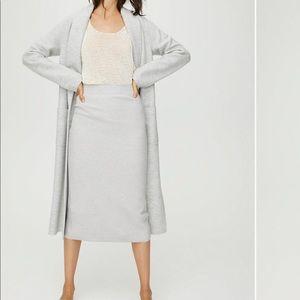 Aritzia wool-blend pencil skirt